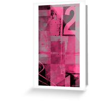 number 2 series : coquettish Pink Greeting Card