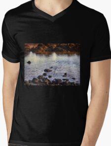 Sunrise Tide Pool Mens V-Neck T-Shirt