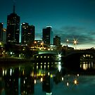 Melbourne Skyline and Princes Bridge by Ian Stevenson