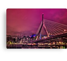 Zakim bridge, Boston MA Canvas Print