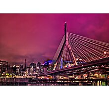 Zakim bridge, Boston MA Photographic Print
