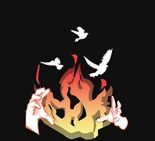 Phoenix reborn from Fire Unisex T-Shirt