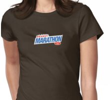 Retro Marathon (not Snickers, kids) chocolate bar logo: only 3p Womens Fitted T-Shirt