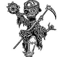 Thrashin' Reaper Photographic Print