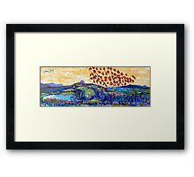 Moyhastin Panorama: from Clew Bay to the Sheeffry Hills - Mayo Framed Print