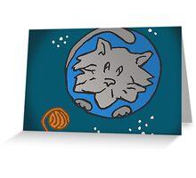 ZEEK visits Cat Planet Greeting Card
