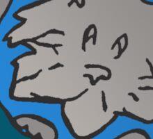 ZEEK visits Cat Planet Sticker