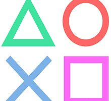 Playstation Logo Classic Design by kodachiclothing
