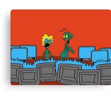 ZEEK and Nurdy visit (Planet) TVs Canvas Print