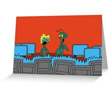 ZEEK and Nurdy visit (Planet) TVs Greeting Card