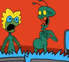 ZEEK and Nurdy visit (Planet) TVs Sticker