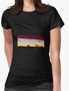 fleeting sunset Womens Fitted T-Shirt