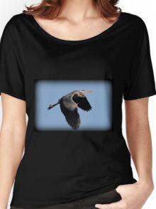 Great Blue Heron Flight Women's Relaxed Fit T-Shirt