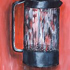 Coffee Pot in Red by MIchelle Thompson