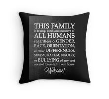 Equality Welcome Sign Throw Pillow