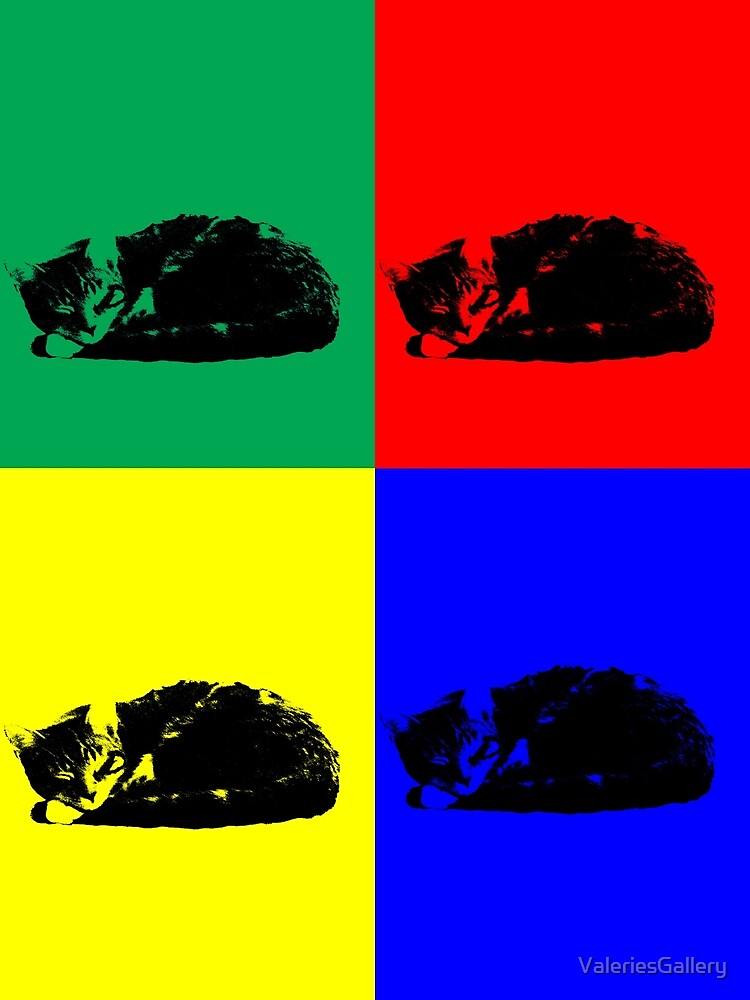 Pop Art Tabby Cat by ValeriesGallery