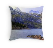 """High Sierra Lake"" Throw Pillow"