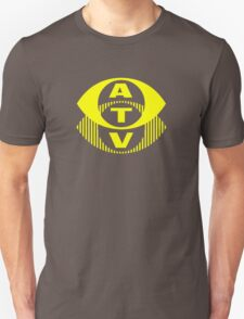 Retro TV ATV in a bright yellow T-Shirt