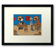 Vampires at the UnDead Cafe Framed Print