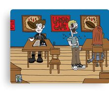 Vampires at the UnDead Cafe Canvas Print