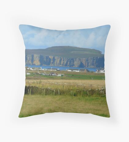 Thurso, Caithness Coastline, Scotland Throw Pillow