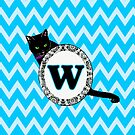 W Cat Chevron Monogram by gretzky