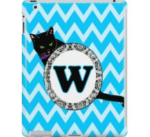 W Cat Chevron Monogram iPad Case/Skin