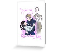 Steve and Peggy - Jarvis in the corner Greeting Card