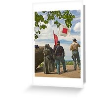Signal Corps at Little Round Top - Gettysburg Greeting Card
