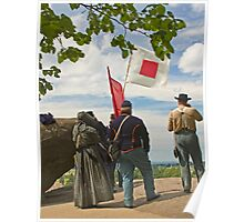Signal Corps at Little Round Top - Gettysburg Poster