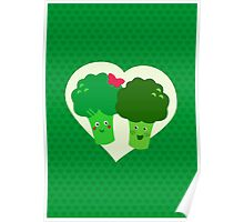 Broccoli in love Poster