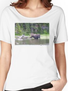 Water Feeding Moose Women's Relaxed Fit T-Shirt