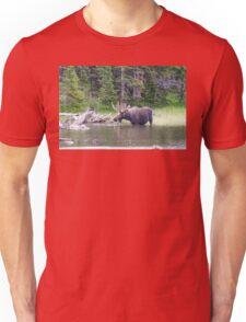 Water Feeding Moose Unisex T-Shirt