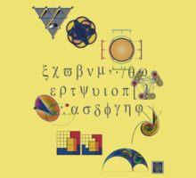 """Math Symbols 1""© Baby Tee"