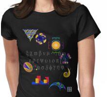 """Math Symbols 1""© Womens Fitted T-Shirt"
