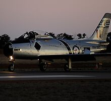 CAC 27 Sabre taxiing back on last light by poleposition