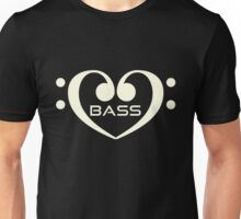 White Bass In Heart Unisex T-Shirt