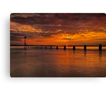 Wade In The Water Canvas Print