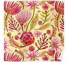 Daisies on Yellow Poster