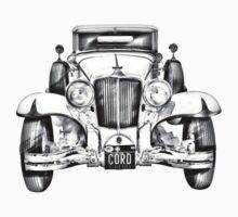 1929 Cord 6-29 Cabriolet Antique Car Illustration Kids Clothes