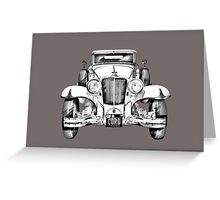 1929 Cord 6-29 Cabriolet Antique Car Illustration Greeting Card