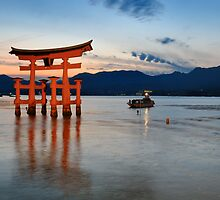 the Gate (torii) of Itsukushima Shrine  by Edy Lianto