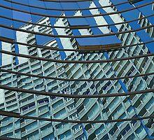 Modern blue glass wall of skyscraper in Buenos Aires, Argentina by Atanas Bozhikov Nasko