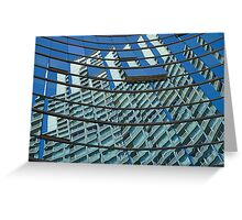 Modern blue glass wall of skyscraper in Buenos Aires, Argentina Greeting Card