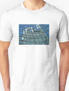 Modern blue glass wall of skyscraper in Buenos Aires, Argentina T-Shirt