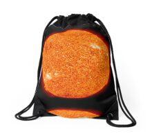 Spiritual Kloth Sun Of The Earth by Kordial Orange Drawstring Bag