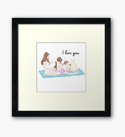 I love you mum Framed Print