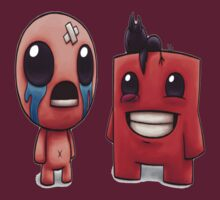 Isaac and Super Meat Boy by Franker