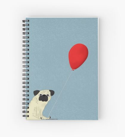 Goofy Pug Spiral Notebook