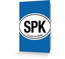 SPK - Live Long and Prosper Greeting Card